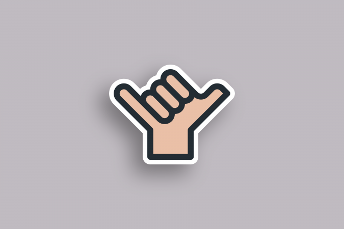 Helu shaka icon design.